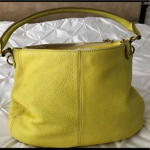 J Crew yellow hobo shoulder bag